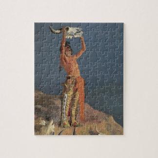Quebra-cabeça Conjurando para trás o búfalo por Frederic
