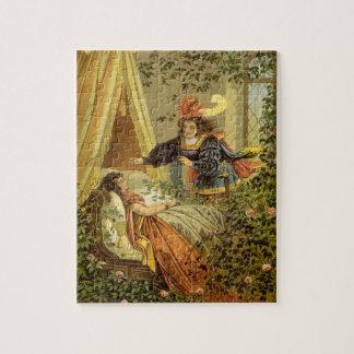 Quebra-cabeça Conto de fadas do Victorian do vintage, Bela