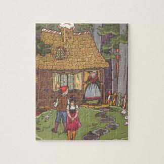 Quebra-cabeça Conto de fadas, Hansel e Gretel do vintage por