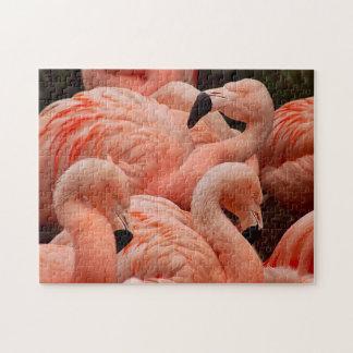 Quebra-cabeça cor-de-rosa bonito do impressão do f
