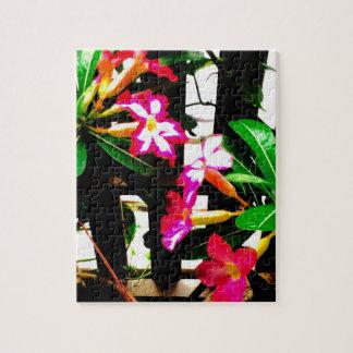 Quebra-cabeça cor-de-rosa da flor