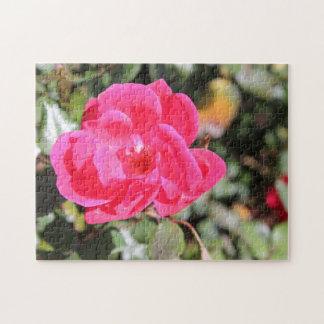 Quebra-cabeça cor-de-rosa da flor de Kentucky