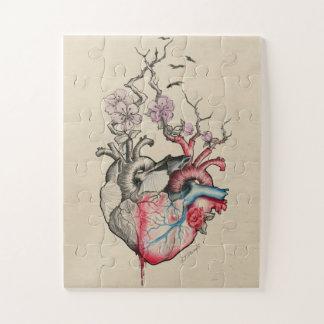 Quebra-cabeça Corações anatômicos da arte dois do amor com