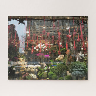 Quebra-cabeça Corações florais da janela da loja do dia dos