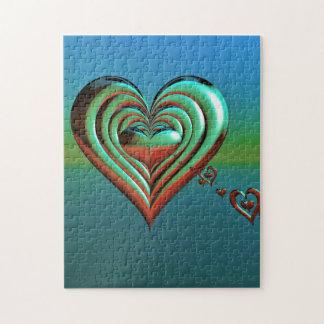 Quebra-cabeça Corações muito ao alto