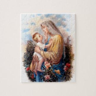 Quebra-cabeça Criança abençoada Jesus da Virgem Maria e da