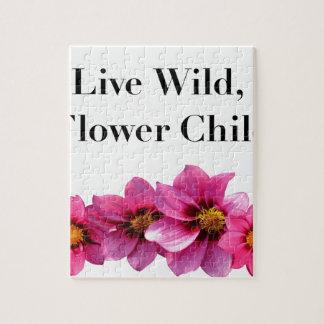 Quebra-cabeça Criança de flor selvagem viva