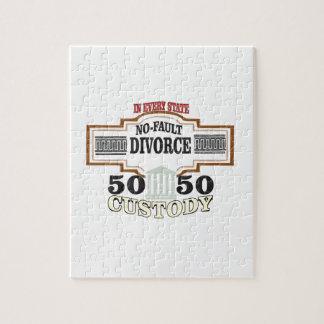 Quebra-cabeça custódia 50 50 no casamento