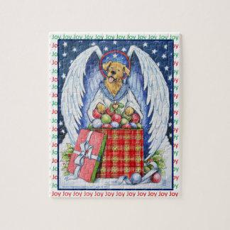 Quebra-cabeça da alegria do Natal do urso