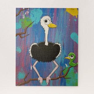 Quebra-cabeça da avestruz