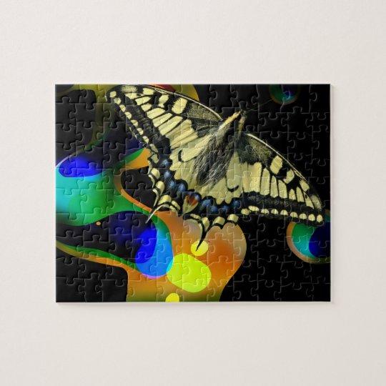 Quebra-cabeça da borboleta de Colorfull