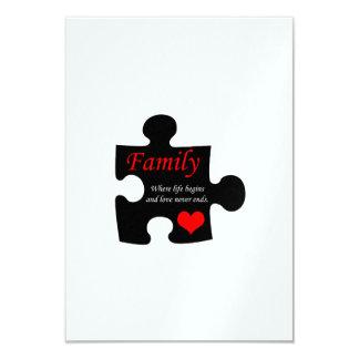 Quebra-cabeça da família convite personalizados