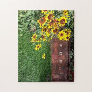 quebra-cabeça da foto 11x14 com caixa de presente