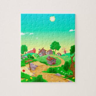 quebra-cabeça da foto 8x10 com caixa de presente