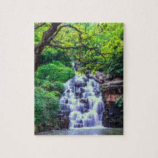 Quebra-cabeça da foto da cachoeira 8x10 com caixa