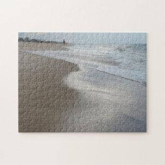 Quebra-cabeça da foto da praia do oceano
