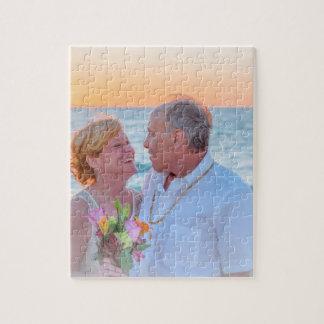 Quebra-cabeça da foto do amor 8x10 com caixa de