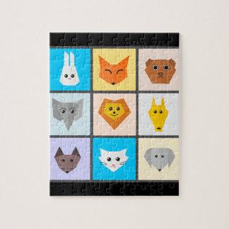 Quebra-cabeça da foto dos animais 8x10 com caixa