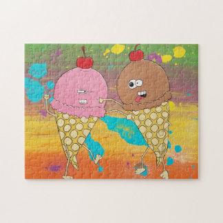 Quebra-cabeça da luta do sorvete