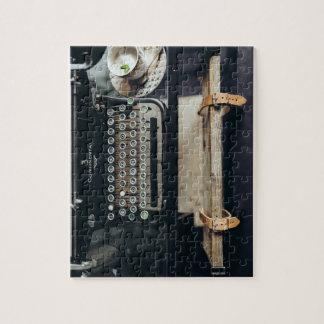 Quebra-cabeça da máquina de escrever do vintage