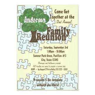 Quebra-cabeça da reunião de família convite 12.7 x 17.78cm