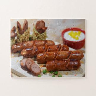 Quebra-cabeça da salsicha da carne