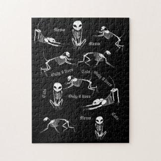 Quebra-cabeça de esqueleto do gato