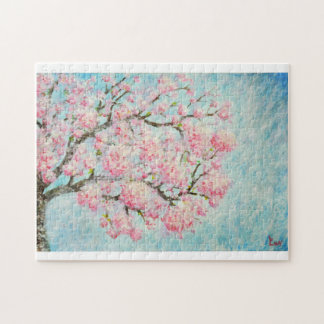 Quebra-Cabeça de Pintura de Ipê Rosa