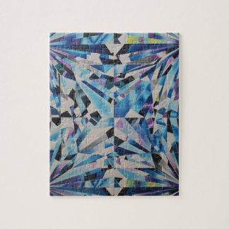 quebra-cabeça de vidro da foto do diamante 8x10