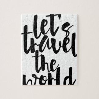 Quebra-cabeça Deixe-nos viajar as citações do mundo