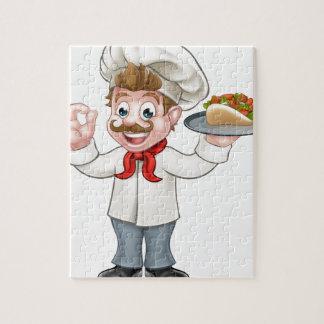 Quebra-cabeça Desenhos animados de Kebab do cozinheiro chefe