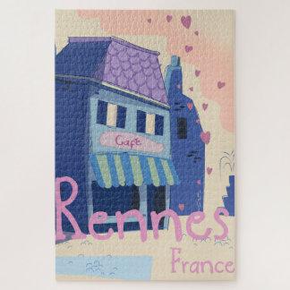 Quebra-cabeça Desenhos animados do vintage de Rennes France