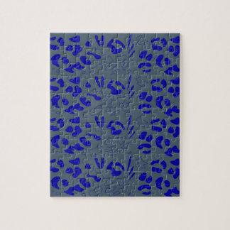 Quebra-cabeça Design azul do jaguar