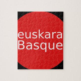 Quebra-cabeça Design da língua Basque