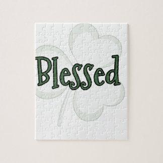 Quebra-cabeça Design do dia de St Patrick abençoado