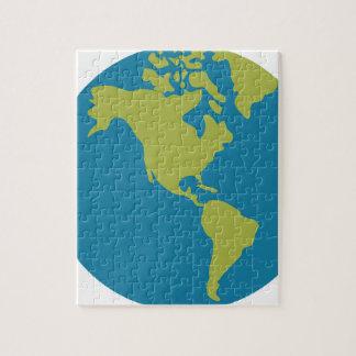 Quebra-cabeça Design dos continentes do mundo da terra do