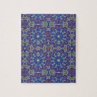 Quebra-cabeça Design étnico colorido