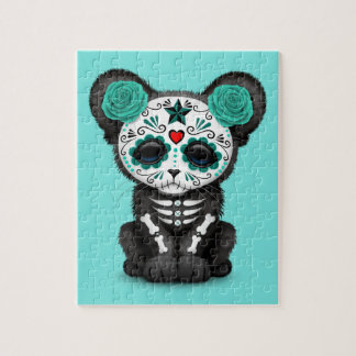 Quebra-cabeça Dia azul da pantera preta inoperante Cub