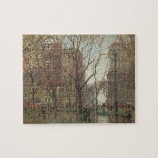 Quebra-cabeça Dia chuvoso, quadrado de Madison, New York, Paul