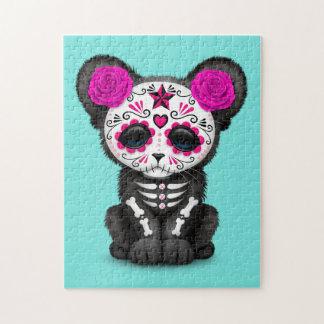 Quebra-cabeça Dia cor-de-rosa da pantera preta inoperante Cub