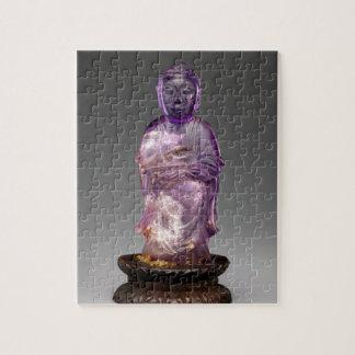 Quebra-cabeça Dinastia assentada de Buddha - de Qing (1644-1911)