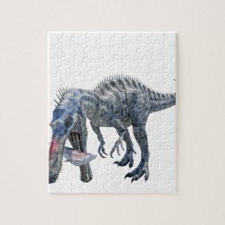 Quebra-cabeça Dinossauro de Suchomimus que come um tubarão