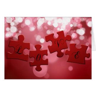 Quebra-cabeça do amor - cartão