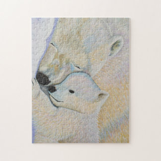 Quebra-cabeça do amor do urso polar
