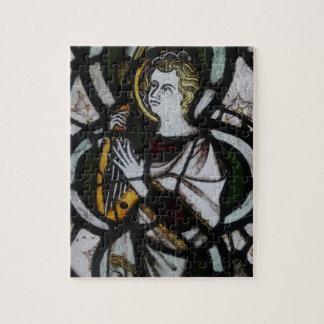 Quebra-cabeça do anjo do vitral