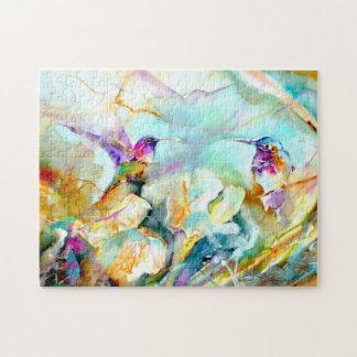 """Quebra-cabeça Do """"impressão do colibri do cumprimento alvorecer"""""""