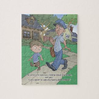 Quebra-cabeça do livro do soluço - carteiro - 8x10