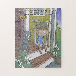 Quebra-cabeça do livro do soluço - o gato - 11x14