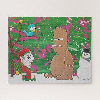 Quebra-cabeça do Natal do Yeti