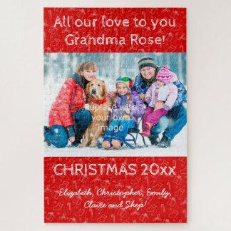 quebra-cabeça do retrato da família do Natal da